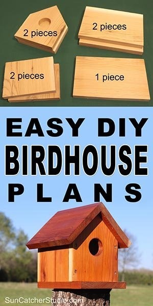 Easy DIY Birdhouse plans to attract bluebirds, swallows, chickadees, nuthatches, warblers, woodpeckers, wrens, and other birds to your backyard or garden.