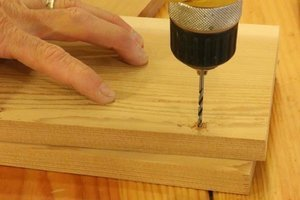 Pre-drill holes for screws