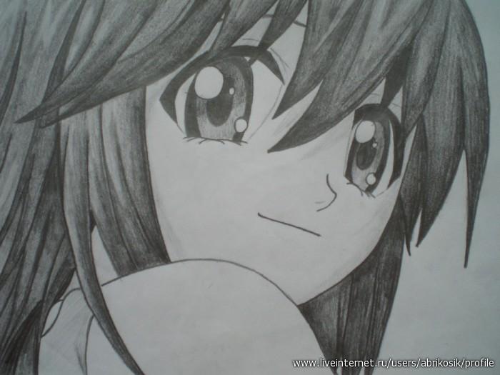Рисунки аниме карандашом которые