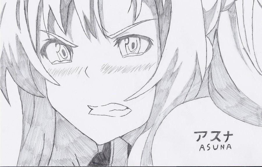 аниме рисунки карандашом-305