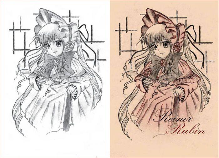 аниме рисунки карандашом-36