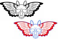 Как нарисовать череп Moth простым карандашом 6