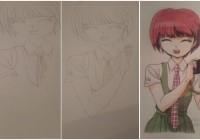 Как нарисовать Mahiru Koizumi шаг за шагом