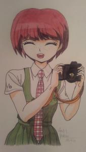 Как нарисовать Mahiru Koizumi шаг за шагом - готовый рисунок