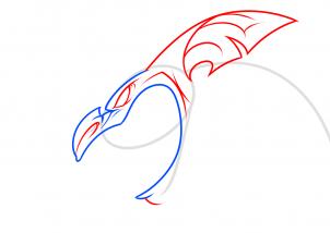 Как нарисовать летучую мышь - мутанта карандашом