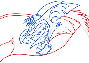 Как нарисовать летучую мышь - монстра