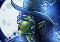 Как нарисовать ведьму в профиль поэтапно